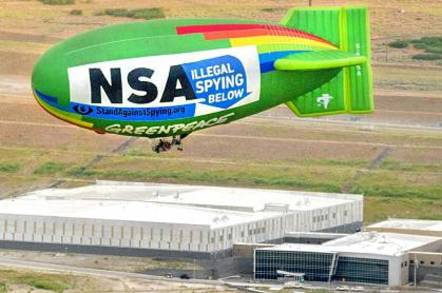 Airship over NSA datacenter