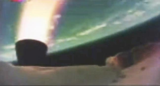 The LDSD's rocket motor fires. Pic: NASA