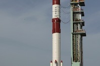 India's PLSV-C23 rocket on launch pad