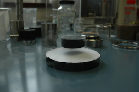 Cambridge's superconducting magnet levitating