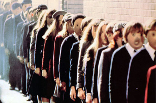 "Same-faced children from the film ""Pink Floyd: The Wall"""