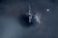 Artist's impression of Rosetta orbiting its prey. Pic: ESA, image by AOES Medialab