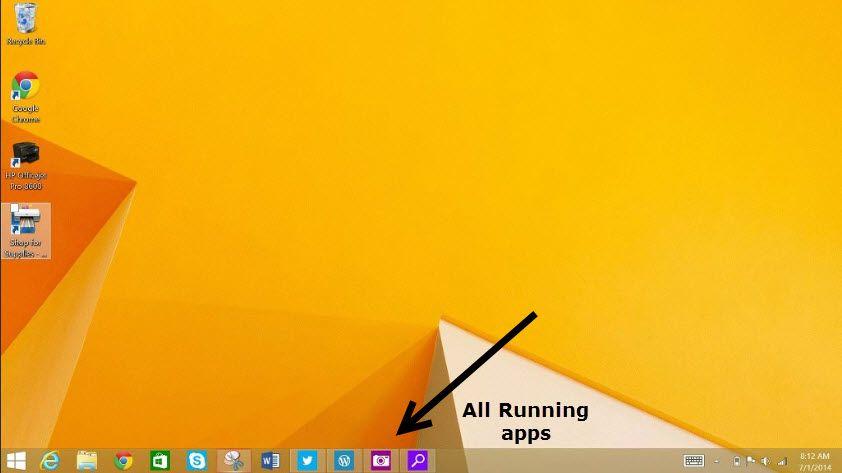 Windows 8.1 update 1 running apps