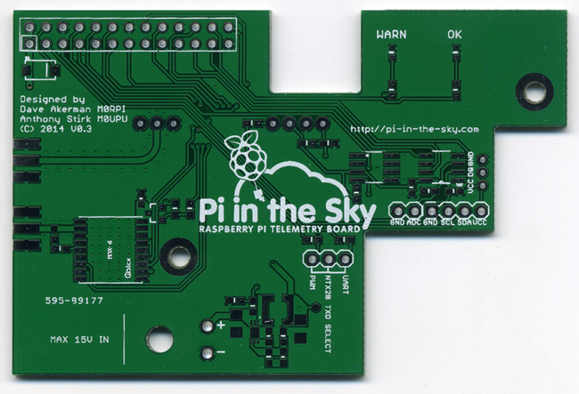 The bare Pi in the Sky board
