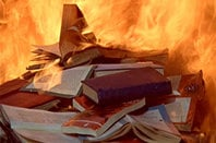 Photo of burning books