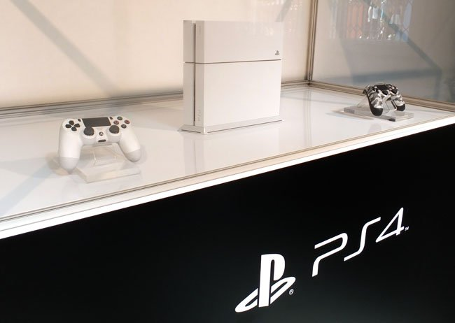 Sony PlayStation 4 in white