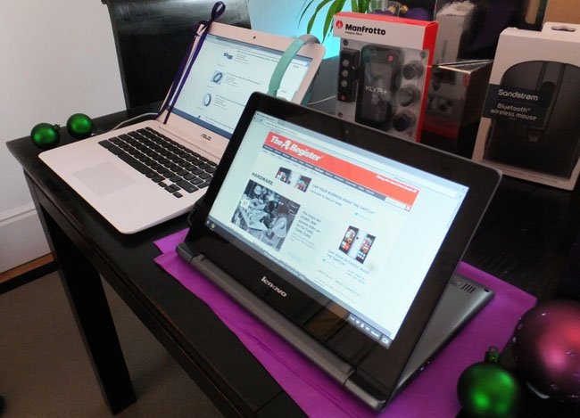 Lenovo N20p Chromebook and Asus C300m Chromebook