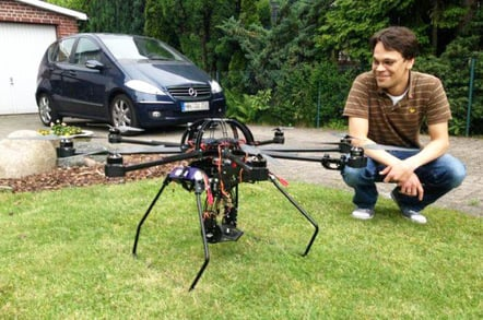 Linus and a hexacopter