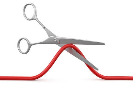 scissors cut cable