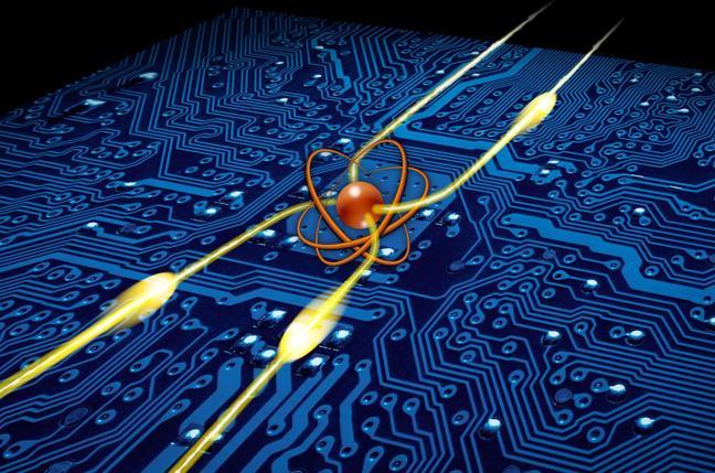 Illustration of Barak Dayan's photonic router