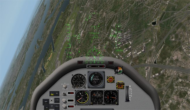 The cockpit view as the aircraft is back under control