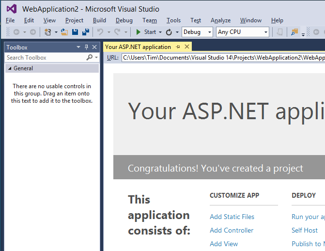 Visual Studio 2014 CTP2 mixed case