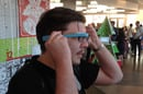 Getting Google Glass  to fit comfortably on existing spectacles can be a challenge