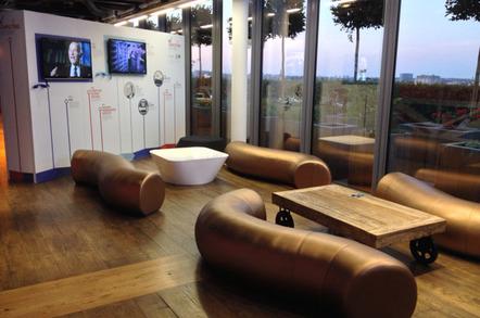 Google UK reception furniture