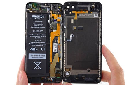 Fire Phone opened