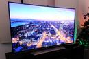 Samsung UHD TV with Christmas tree