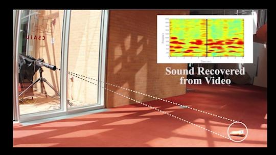 MIT's passive visual microphone