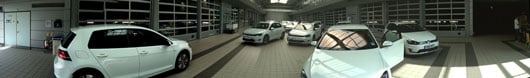 VW laid on a fleet of e-Golfs for testing