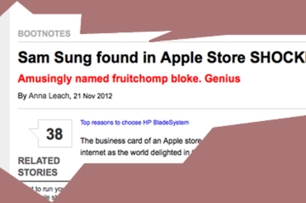 Ex apple man sam sung for it is he sticks namebadge on ebay stump up via tat bazaar do a good thing for ill kids reheart Gallery