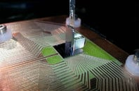 A quantum-diamond experimental chip at TU Vienna