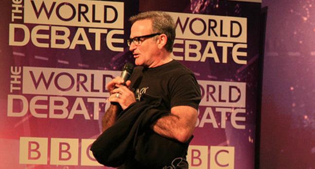 Robin Williams at a BBC talk (sergey brin cropped out))