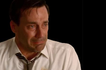 Don Draper is sad