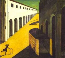 Mystery and Melancholy of a Street (1913) by Giorgio di Chirico