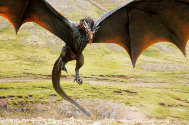 A dragon in Game of Thrones