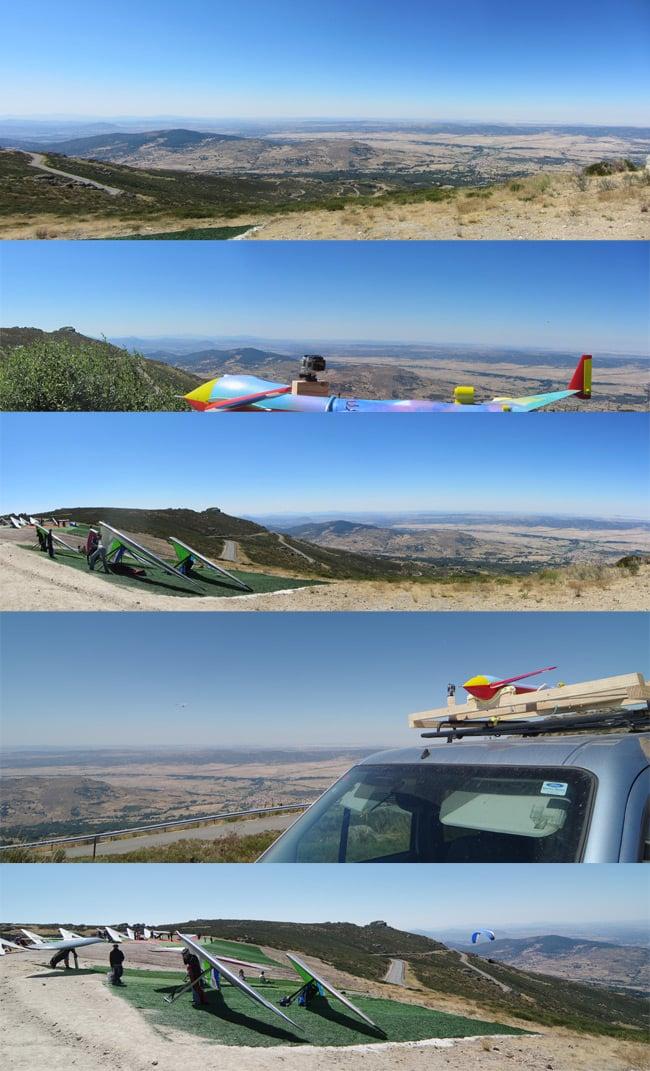 Various panoramic views at the top of the Pena Negra