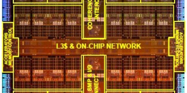 The die of Oracle's SPARC M7 CPU