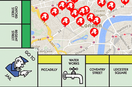 The Register Monopoly Pubcrawl Mobile Map: VODAFONE VICTOR