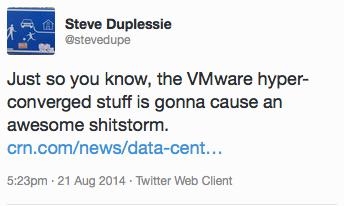 Steve Duplessie tweet on Marvin
