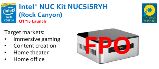 Intel NUC Leaked Slide