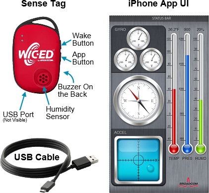 Broadcom's WICED Sense IoT dev kit