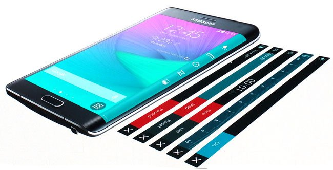 Samsung Galaxy Note Edge screens