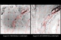 Nimbus and Modis Images 50 years apart
