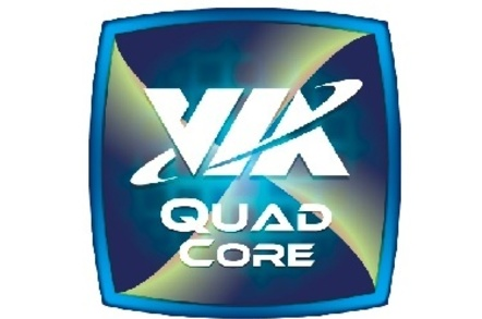 Via quad core logo