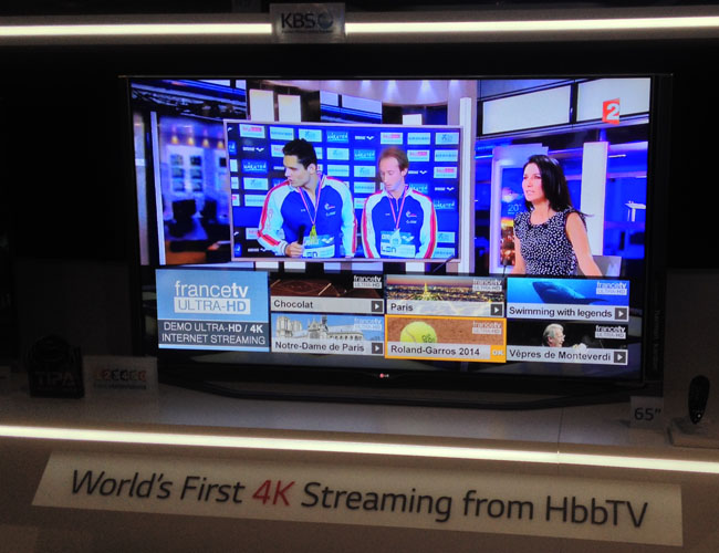 4K streaming on HbbTV