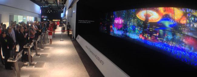 LG OLED 3D TV demo