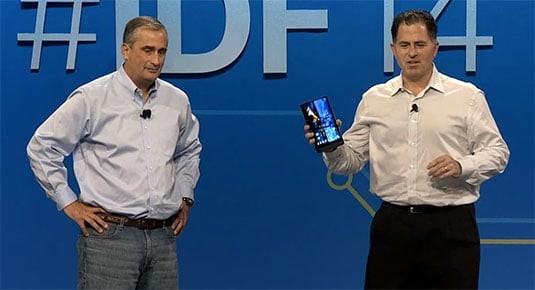 Brian Krzanich and Michael Dell