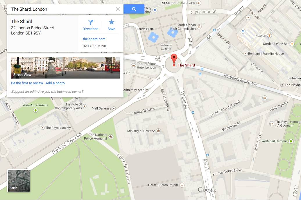 Go home Google, you're drunk! Desktop Maps says The Shard's ... G Gle Maps on google voice, google earth, web mapping, satellite map images with missing or unclear data, route planning software, bing maps, google map maker, yahoo! maps, google search, nokia maps, google moon, google latitude, bing maps platform, google sky, google mars,