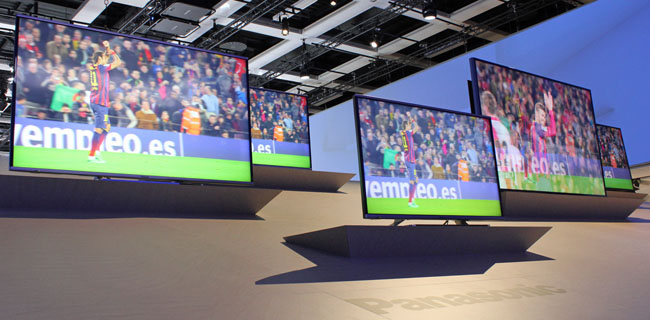 4K Panasonic screens from 40-inches upwards