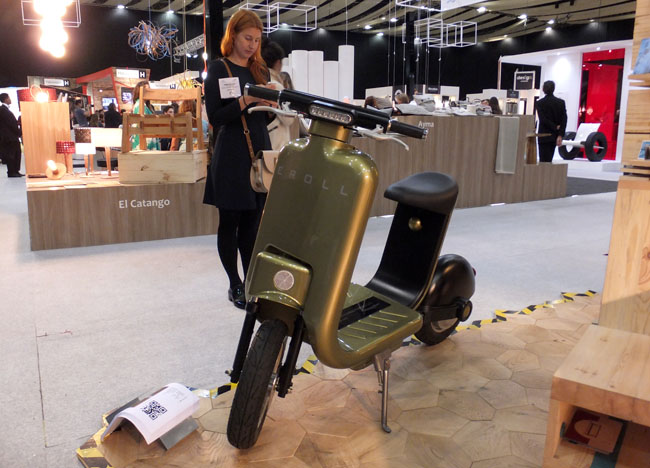 E-Roll prototype electric scooter