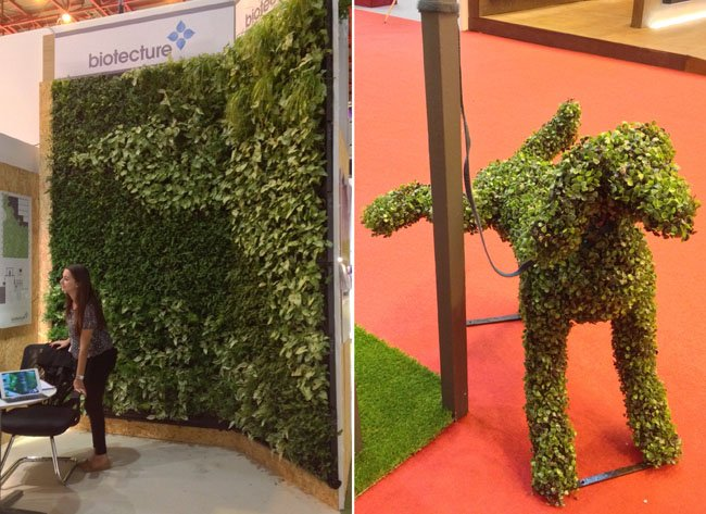 Biotecture wall and topiary dog made by Fake