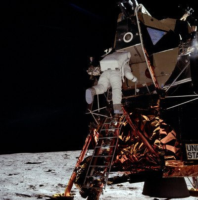 The iconic Buzz Aldrin image