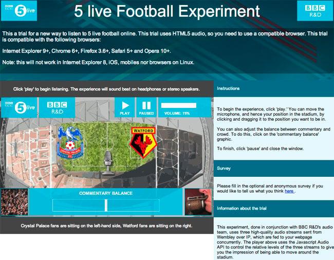 BBC 5 Live football experiment