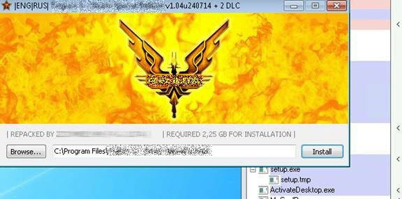 An infected game installer.