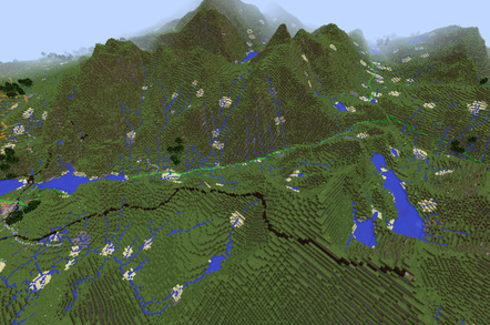 Snowdonia on the new GB Minecraft 2 map
