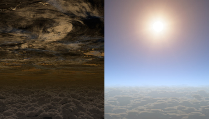 Artist's impression of HAT-P-11b, a Neptune-like exoplanet with water vapour in its atmosphere