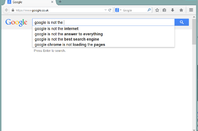 Google is not the internet - search suggestion